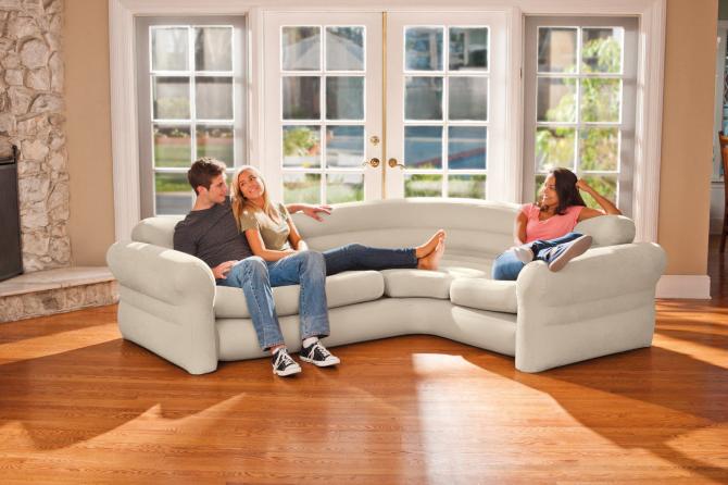 купить надувной диван кровать трансформер Lamzac Intex цена скидки